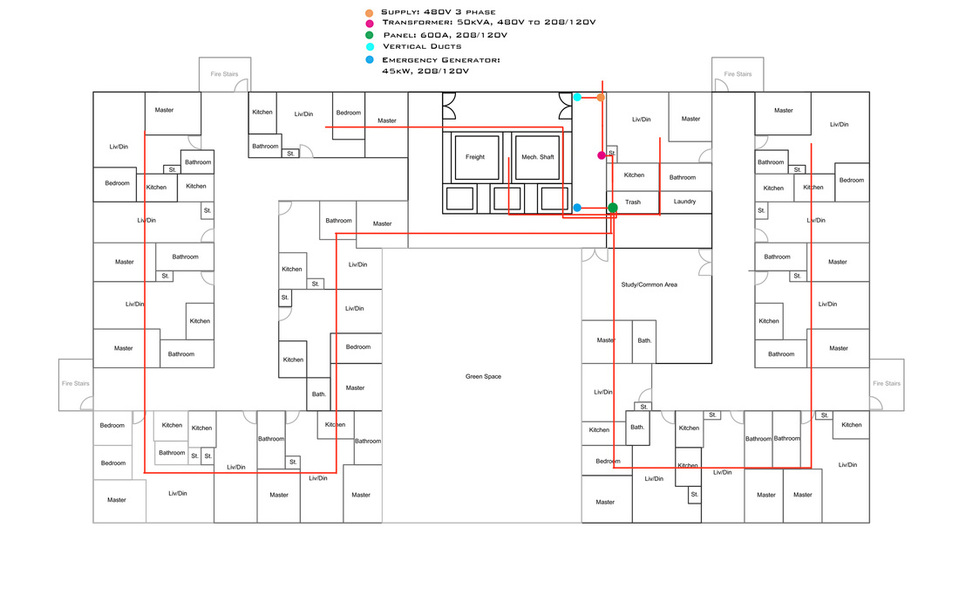 Electrical Single Line Diagram Graduate Married Student Housing